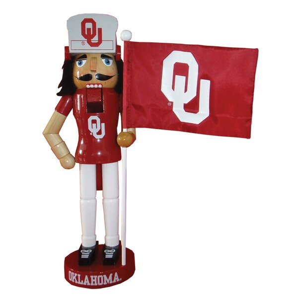 NACC Oklahoma Mascot Flag Nutcracker by Santa's Workshop