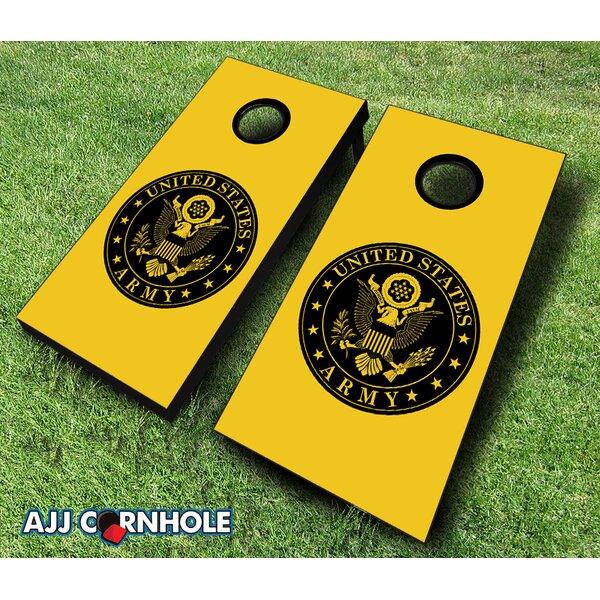 10 Piece US Army Seal Cornhole Set by AJJ Cornhole