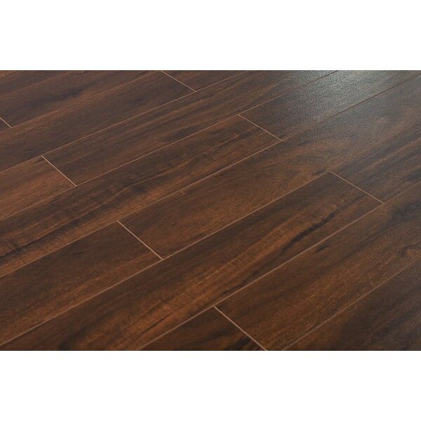 Killian 5 x 48 x 12mm Walnut Laminate Flooring in Caribbean by Serradon