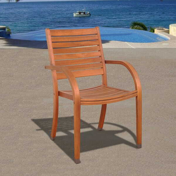 Landon Stacking Patio Dining Chair (Set of 4) by Longshore Tides