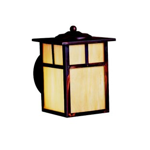 Reviews Daveney 1-Light Glass Outdoor Wall Lantern By Bloomsbury Market