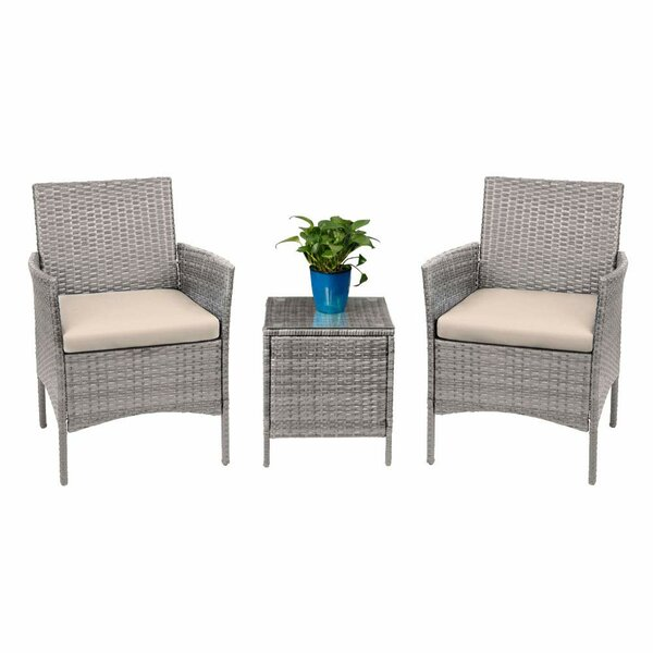 Driskell 3 Piece Rattan Seating Group with Cushions by Highland Dunes