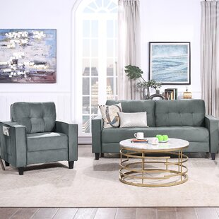 Orisfur. Sofa Set Morden Style Couch Furniture Upholstered Armchair, Loveseat And Three Seat For Home Or Office (1+3 Seat) by Latitude Run®