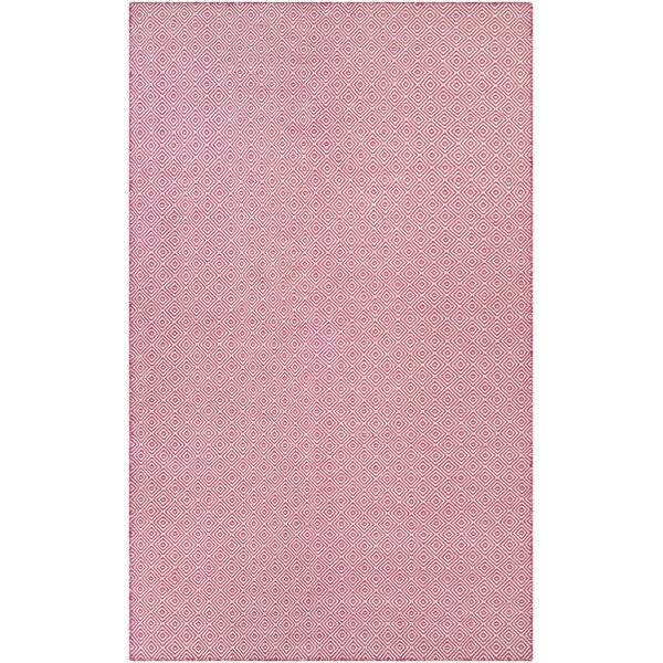 Alonso Hand-Woven Pink Indoor/Outdoor Area Rug by Viv + Rae