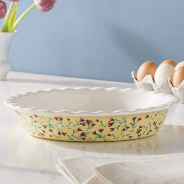 Chamberland Large Round Fluted Pie Dish by Mint Pantry