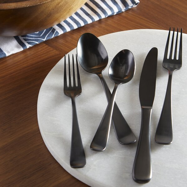 Theroux Full Oxidation 20 Piece Flatware Set, Service For 4 By Laurel Foundry Modern Farmhouse