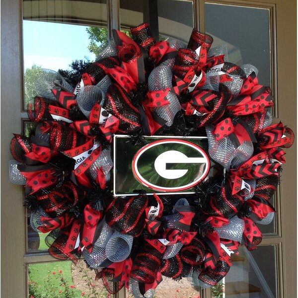 UGA Collegiate 26 Wreath by Flora Decor