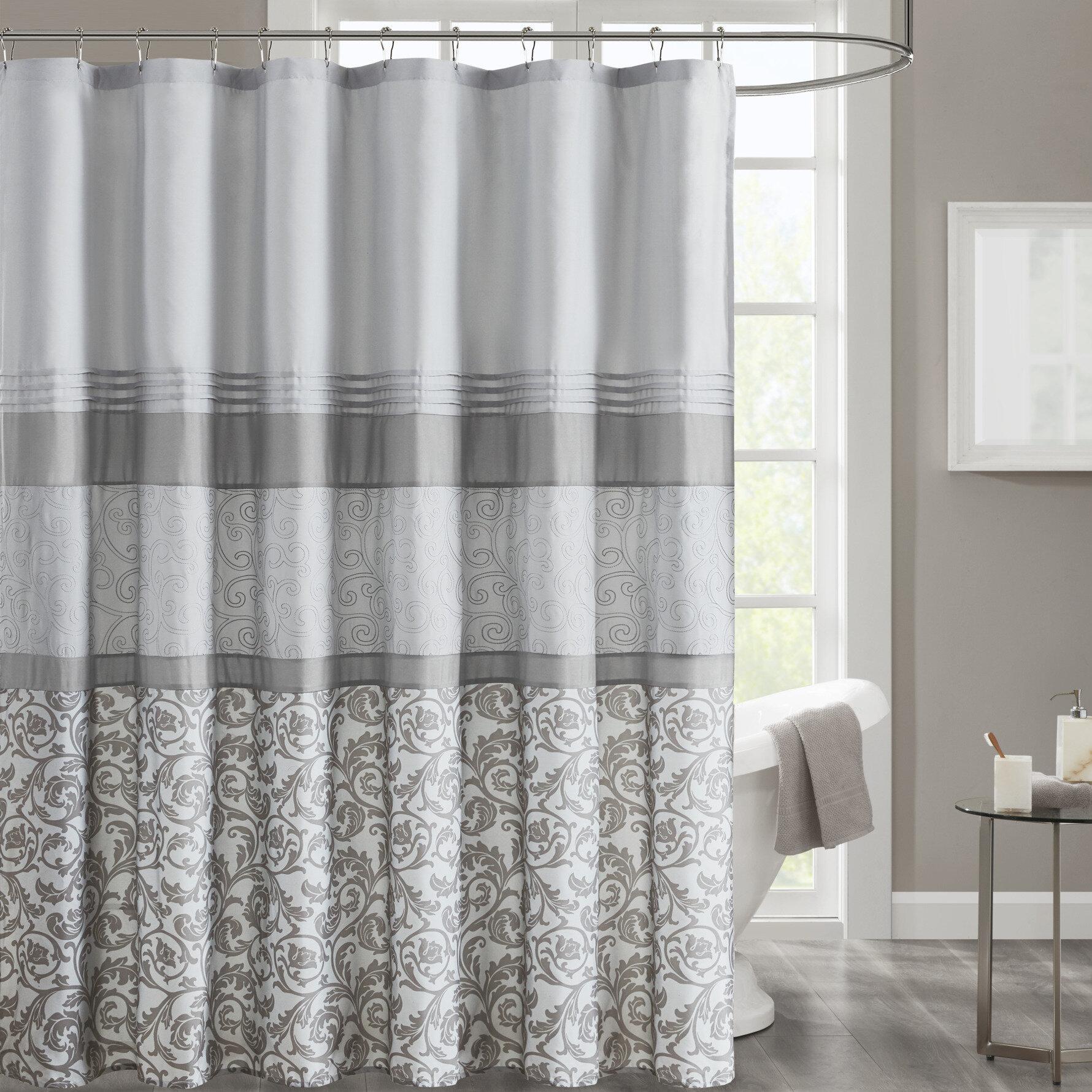 Ophelia Co Cherryford Microfiber Single Shower Curtain Reviews Wayfair