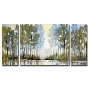 Lakeside View III by Norman Wyatt, Jr. 3 Piece Painting Print on Wrapped Canvas Set by Ready2hangart
