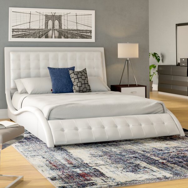 Spyglass-Barton King Upholstered Standard Bed by Wade Logan