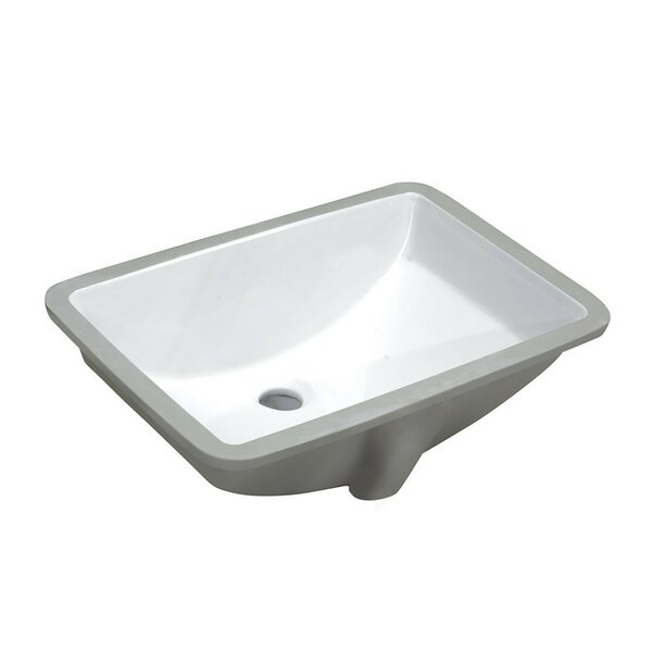Pegasus Vitreous China Rectangular Undermount Bathroom Sink with Overflow by ANZZI