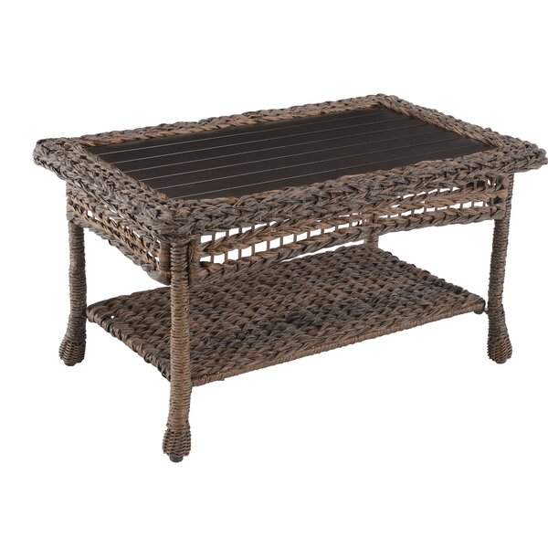 Dulin Rattan Coffee Table by Bay Isle Home