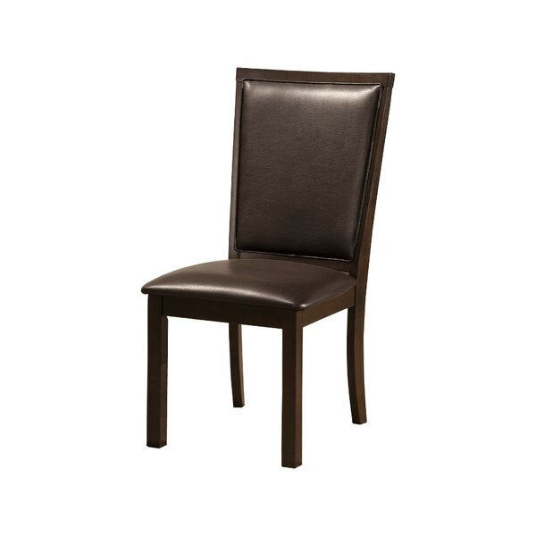 Lapp Rubberwood Faux Leather Upholstered Dining Chair (Set of 2) by Alcott Hill