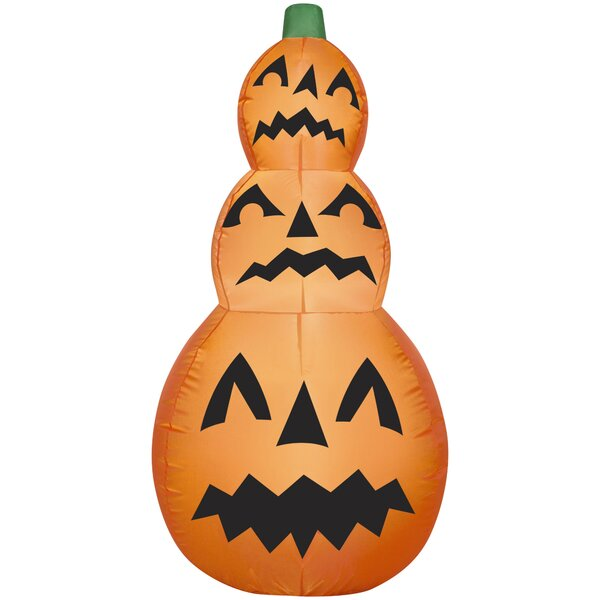 Pumpkin Stack Inflatable by The Holiday Aisle