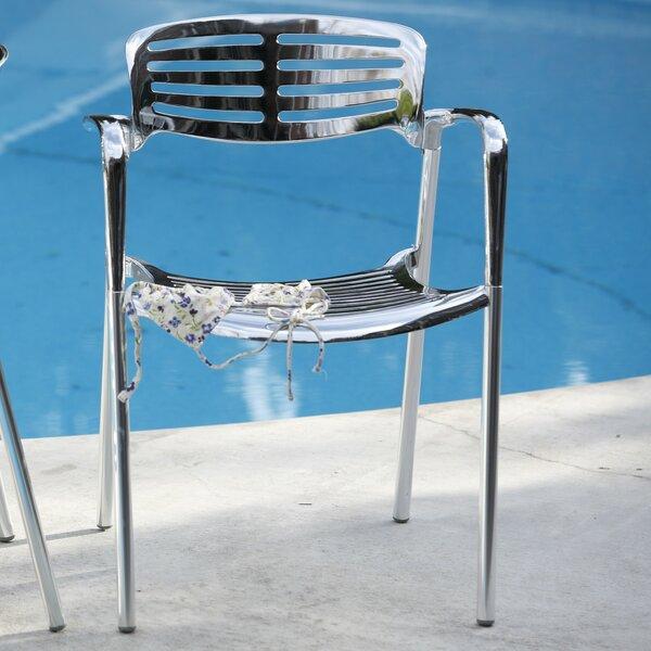 Addisyn Stacking Patio Dining Chair (Set of 4) by Wade Logan Wade Logan