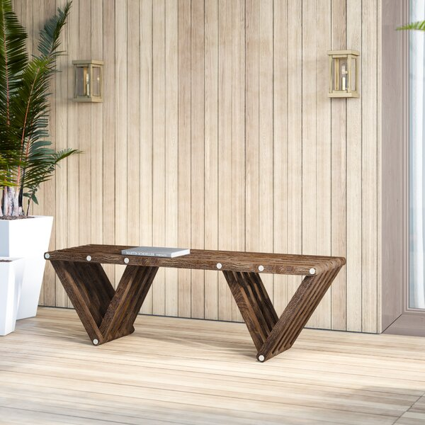 Degraw Eco Friendly Wooden Picnic Bench by Mercury Row