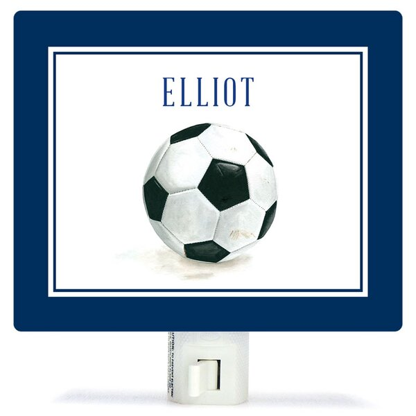 Personalized Sports and Games Soccer Ball Canvas Night Light by Oopsy Daisy