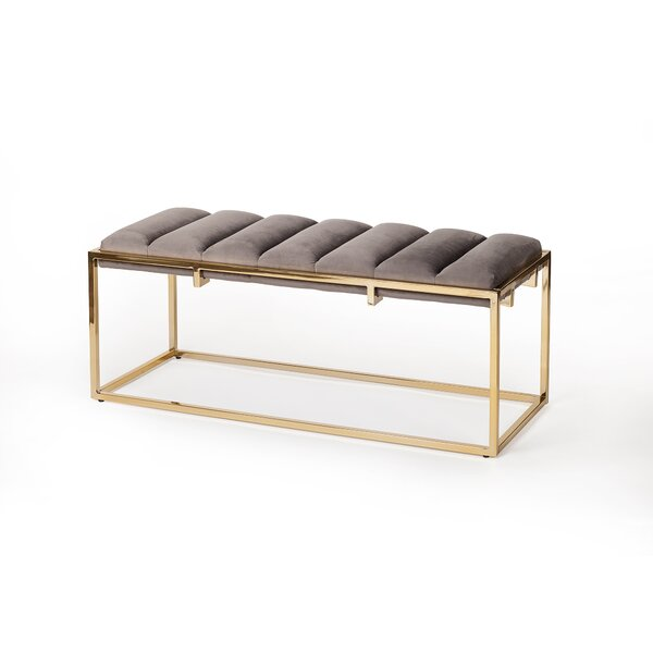 Caulksville Upholstered Bench by Everly Quinn