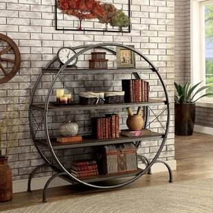 industrial bookcases hudson circle bookshelf copycatchic round bookcase goods