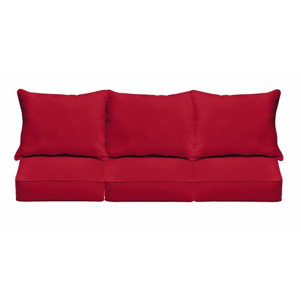 Piped Indoor/Outdoor Sofa Cushion by Red Barrel Studio