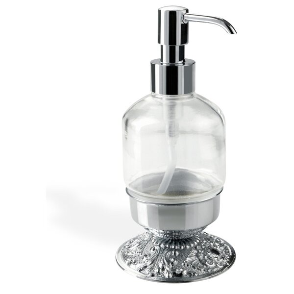 Noto Cristallo Elegant Modern Wall Mounted Crystal Glass Liquid Soap Dispenser by Stilhaus by Nameeks