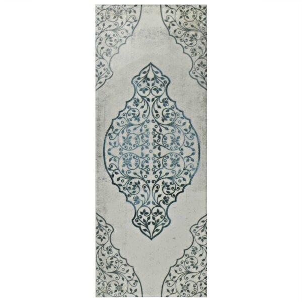 Byth Grafic 5.88 x 15.75 Ceramic Field Tile in Gray/Blue by EliteTile