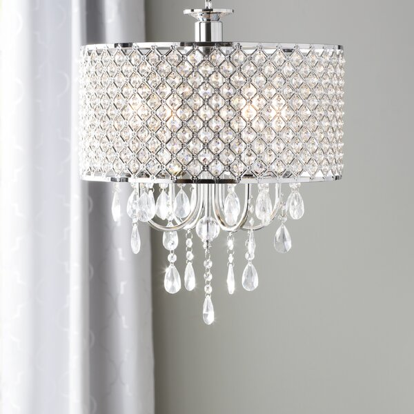 Aurore 4-Light LED Crystal Chandelier by Willa Arl