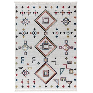 Comparison Rheba White Area Rug By Bungalow Rose
