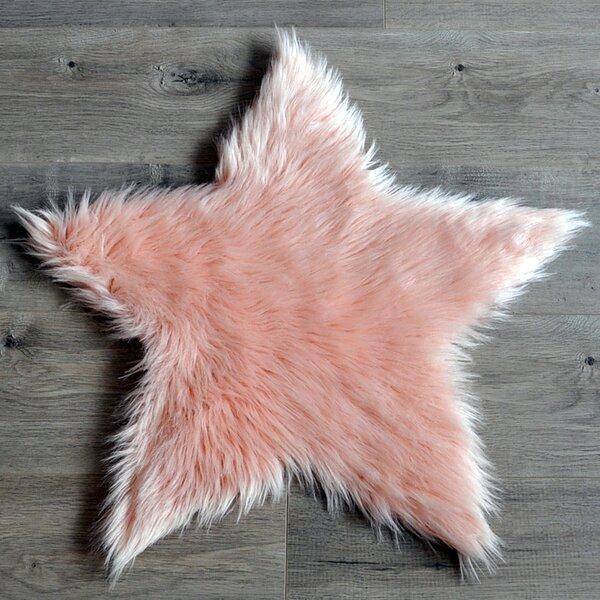 Faux Sheepskin Blush Area Rug by Kroma Carpets