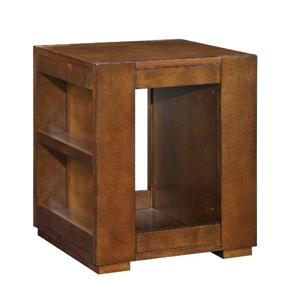 Tarrytown Bookshelf Wooden End Table with  Side Storage by Millwood Pines Millwood Pines
