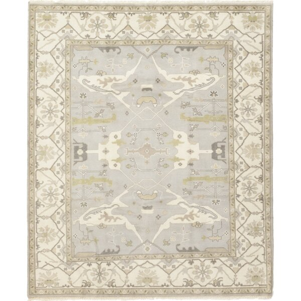 One-of-a-Kind Corrado Hand-Knotted Wool Gray/Beige Indoor Area Rug by Astoria Grand