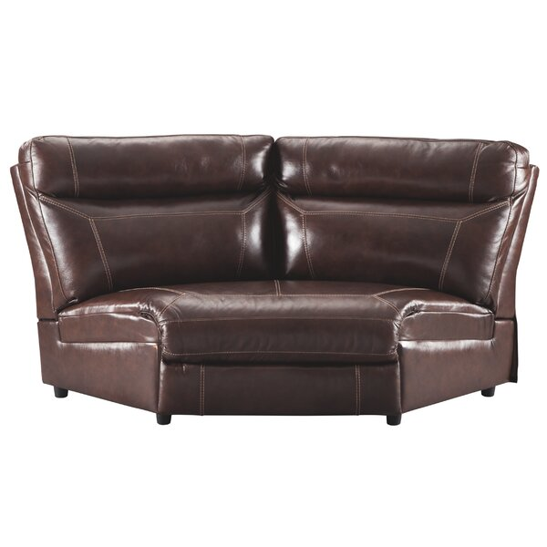 Suri Wedge Leather Reclining Sectional By Red Barrel Studio