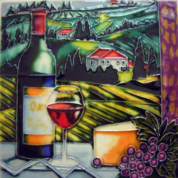 Vineyard View Tile Wall Decor by Continental Art Center