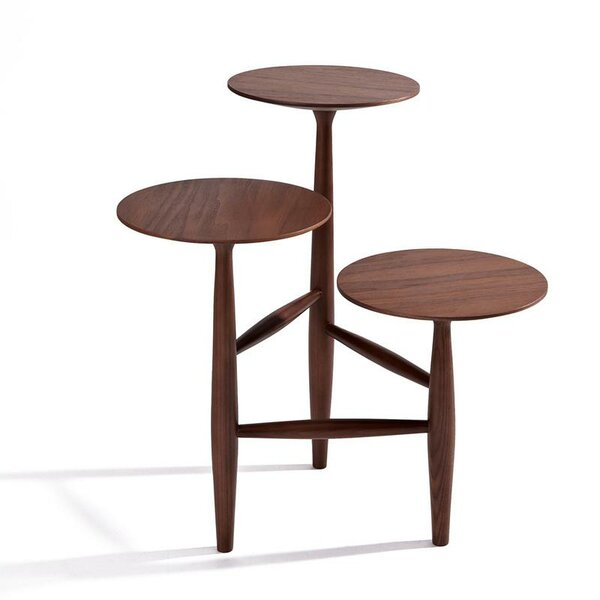 Aries Walnut End Table by Corrigan Studio