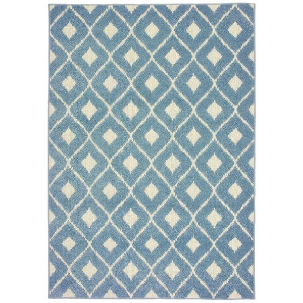 Loveland Geometric Flatweave Blue Indoor/Outdoor Area Rug