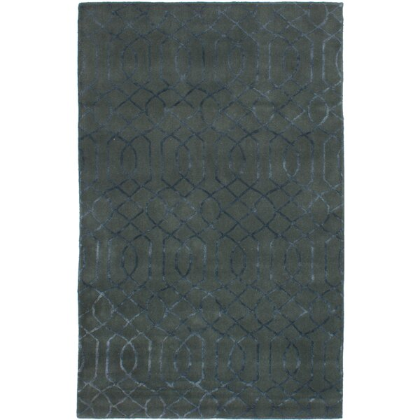 Hardaway Hand-Tufted Teal Area Rug by Ivy Bronx