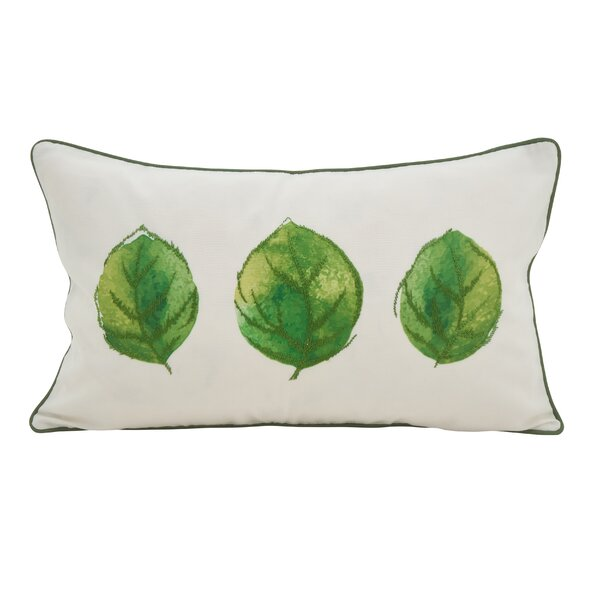 Lenglen 3 Leaves Embroidered Lumbar Pillow by Gracie Oaks