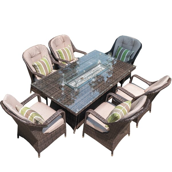 Turnbury Outdoor 7 Piece Multiple Chairs Seating Group with Cushions by Latitude Run