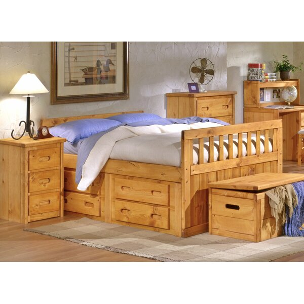 Eldon Full Mates Bed with Drawers by Harriet Bee