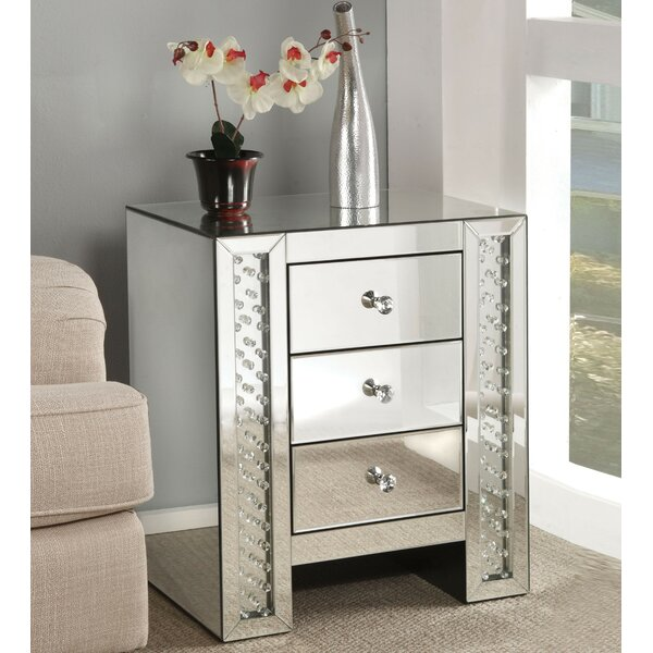 Espanola 3 Drawer Nightstand by Rosdorf Park