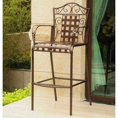 Abbottsmoor Patio Bar Stool by Darby Home Co