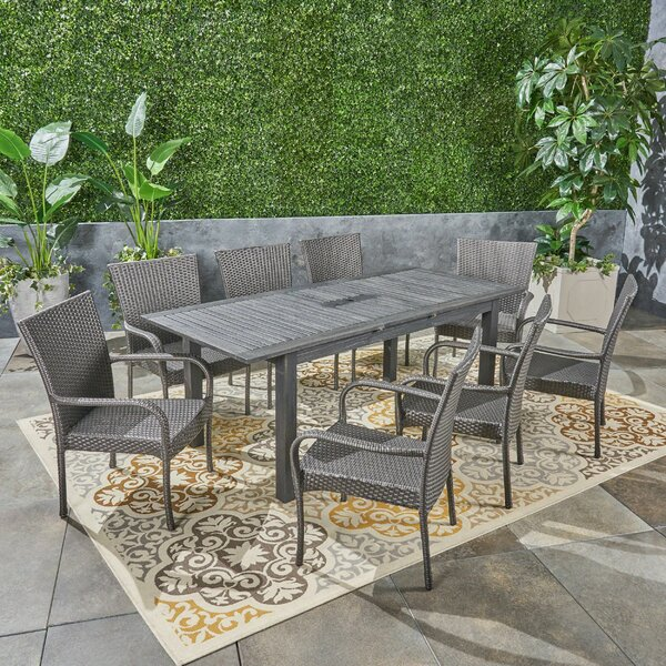 Obrien Expandable 9 Piece Dining Set by Brayden Studio