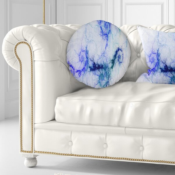 Abstract Sparkling Stormy Sky Throw Pillow by East Urban Home