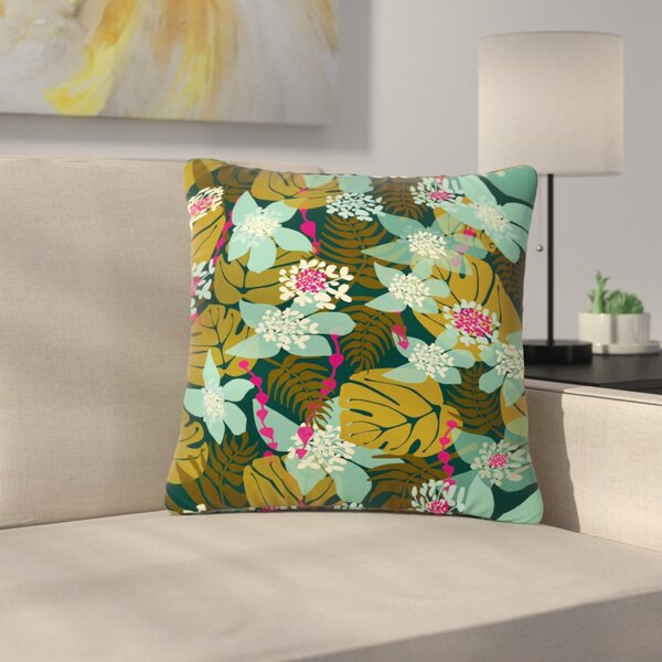 Amy Reber Tropical Tropical Floral Outdoor Throw Pillow by East Urban Home