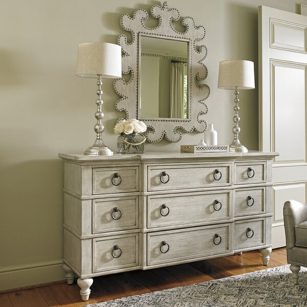 Oyster Bay 9 Drawer Dresser with Mirror by Lexington