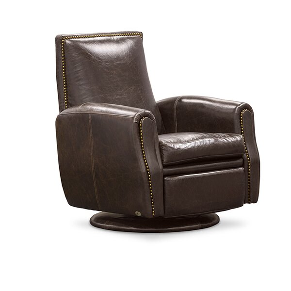 Leather Power Swivel Recliner by Fornirama