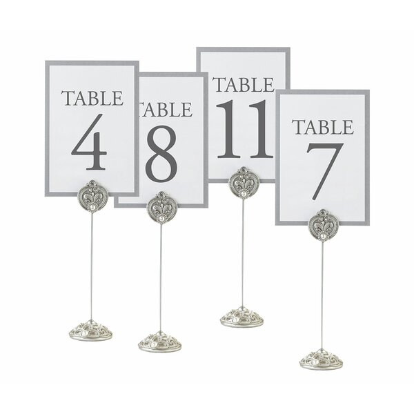 4 Piece Jeweled Table Markers Set by Lillian Rose