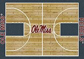 NCAA College Home Court Mississippi Novelty Rug by My Team by Milliken