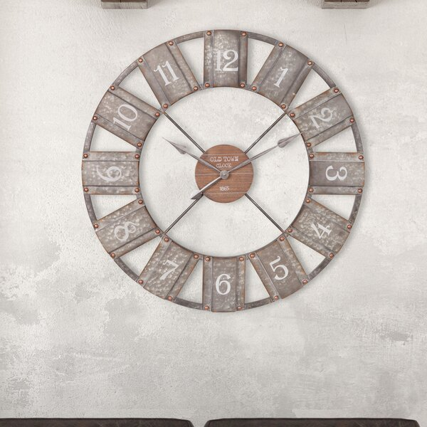 Oversized Medora Windmill 36 Wall Clock by Gracie Oaks