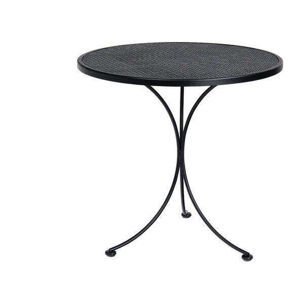 Mesh Top Wrought Iron Dining Table by Woodard